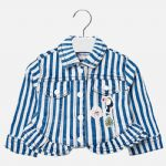 Mayoral 1418 Blue Striped Jacket Available Sizes 12/18/24/36 Months Spring/Summer 2019